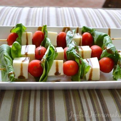 Spinach Salad on a Stick