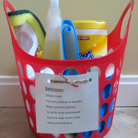 Chore Basket & Printable Checklist