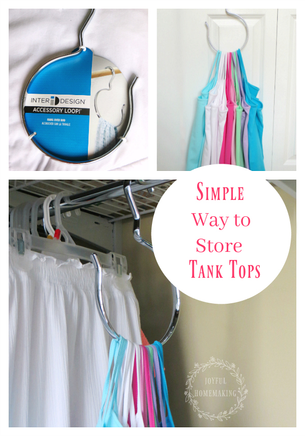 store tank tops easily and efficiently