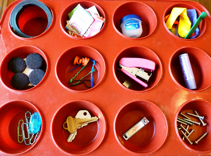 muffin pan uses for organization, A Muffin Pan's Many Uses, Joyful Homemaking