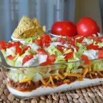 layered taco dip, Everybody's Favorite Layered Taco Dip,