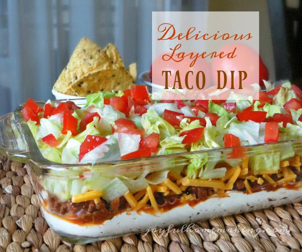 Taco Dip - Joyful Homemaking