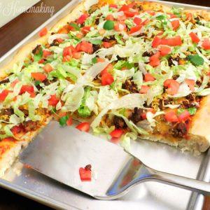 Taco Pizza, Taco Pizza, Joyful Homemaking