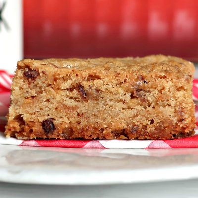 Toffee Blondie Bars