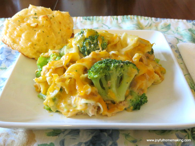 Tuna Broccoli Noodle Casserole