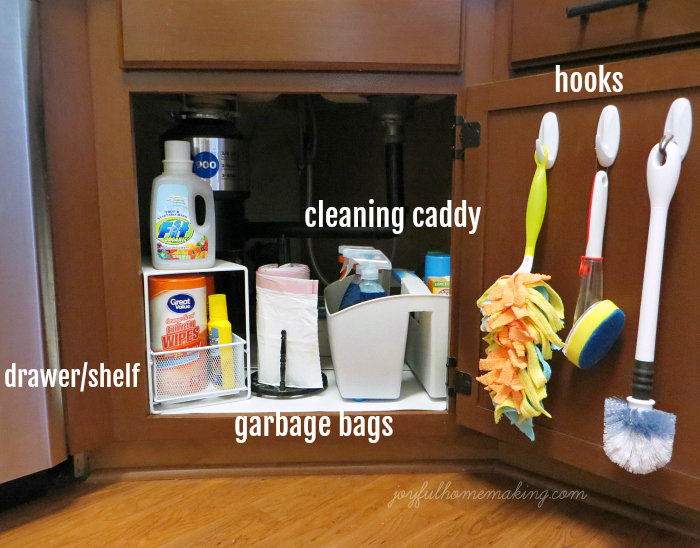 Under the Sink Organization, Joyful Homemaking