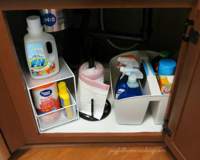 under sink organization, Under the Sink Organization, Joyful Homemaking