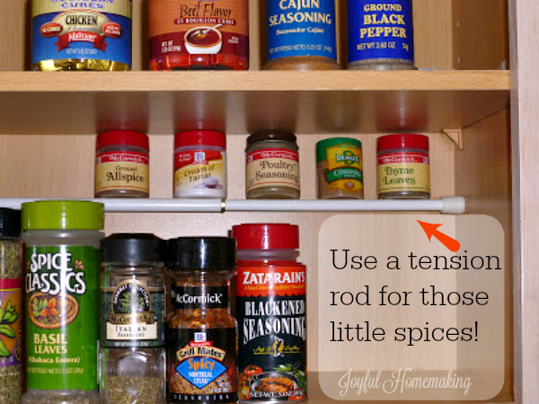 use tension rod for spices3