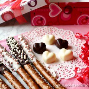 Chocolate Dipped Pretzels, Joyful Homemaking